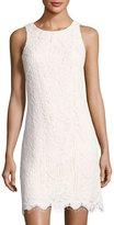 Eliza J Sleeveless Lace Shift Dress, Ivory
