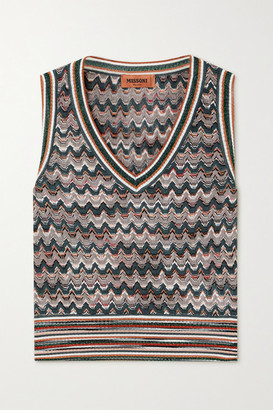 Missoni Crochet-knit Tank - Gray green