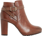 Dune Puggy leather ankle boots