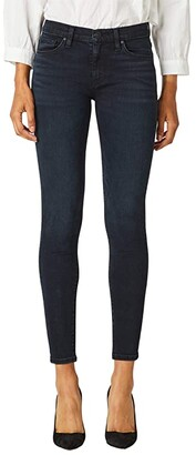 Hudson Nico Mid-Rise Super Skinny in Inked Pitch (Inked Pitch) Women's Jeans