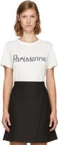 MAISON KITSUNÉ White parisienne T-shirt