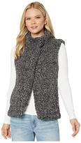 True Grit Dylan By Dylan by Faux-Shearling Pile Cozy Vest with Soft Knit Lining (Charcoal) Women's Clothing