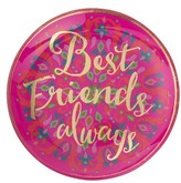 Natural Life Best Friends Always Glass Tray