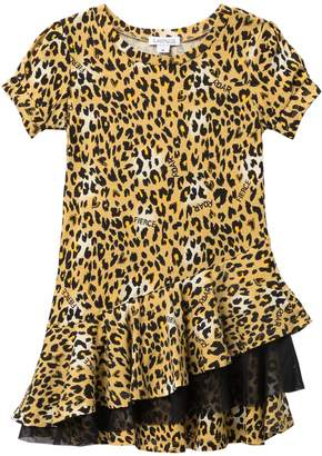 Flapdoodles Leopard Print Dress (Little Girls)