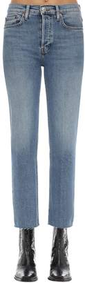 RE/DONE Re Done STOVE PIPE STRETCH COTTON DENIM JEANS