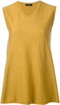 Roberto Collina round neck flared tank - women - Cotton - XS