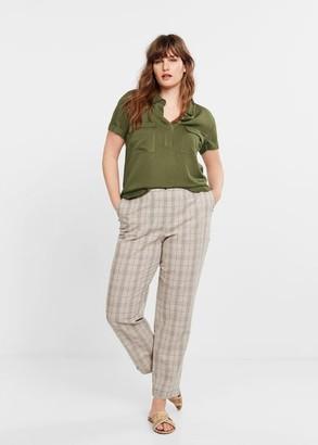 MANGO Violeta BY Pocket blouse off white - 10 - Plus sizes