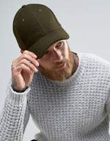 Asos Baseball Cap In Green Melton