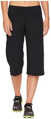 Brooks Greenlight Relaxed Capri Pants (Black) Women's Workout