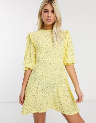 Faithfull The Brand Faithfull edwina floral mini shift dress with 3/4 sleeve