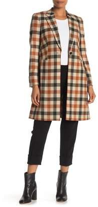 SUISTUDIO Wool Blend Checkered Coat