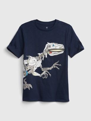 Gap Kids Dinosaur Zipper Graphic T-Shirt