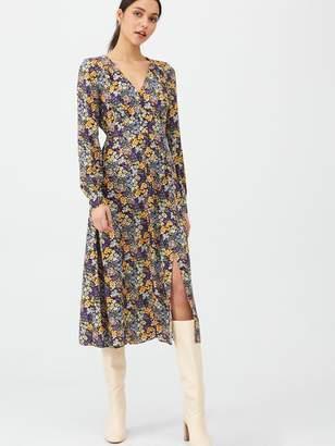 Very Floral Midaxi Button Through Dress - Print