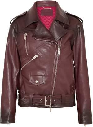 Givenchy Oversized Textured-leather Biker Jacket
