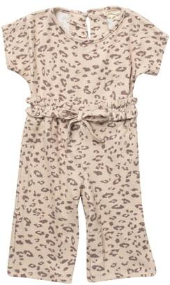 Jessica Simpson Animal print Hacci Jumpsuit