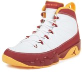 Nike Mens Jordan 9 Retro Bentley Ellis Crawfish Limited Edition Basketball Shoes White-Dark Cayenne/University Gold 302370-140