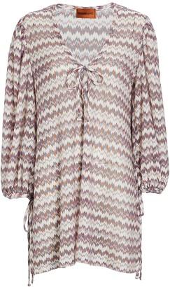 Missoni Mare Knit Lurex Chevron Mini Dress