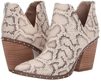 Steve Madden Alyse-S (Light Beige Snake) Women's Boots