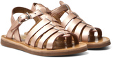 Pom D'Api Copper Metallic Plagette Strap Sandals