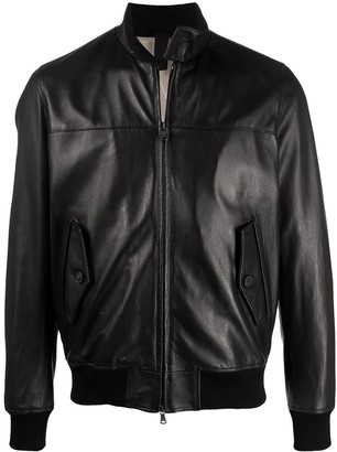 Orciani Zip-Up Leather Jacket