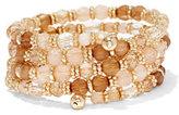 New York & Co. Beaded Goldtone Coil Bracelet