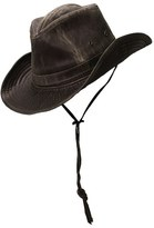 Scala Men's Cotton Blend Outback Hat - Brown