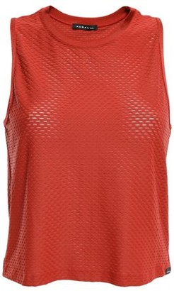Koral Muscle Cropped Satin-trimmed Stretch-mesh Tank