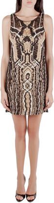 Diane von Furstenberg Metallic Macrame Lace Sleeveless Neapoli Dress M