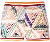 Missoni knitted patchwork shorts - women - Cotton/Nylon/Polyester/Wool - 38