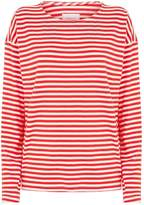 Current/Elliott Current Elliott Breton Stripe Long Sleeve T-Shirt, Red, 1
