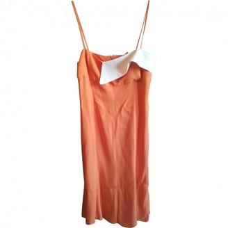 Gianfranco Ferre Orange Silk Dress for Women