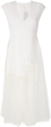 Gloria Coelho Tulle Skirt Midi Dress