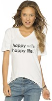 Peace Love World Happy Wife Happy Life V-Neck Tee