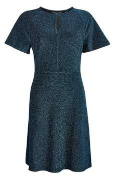 Dorothy Perkins Womens Teal Keyhole Fit And Flare Dress