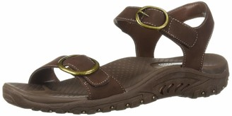 Skechers Women's Reggae-Always Strapped-Double Buckle Strappy Slingback Sandal
