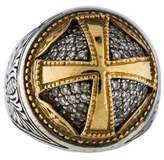 Konstantino Diamond Filigree Cross Ring