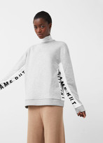 MANGO Contrast Panels Sweatshirt