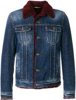 Dolce & Gabbana shearling denim jacket