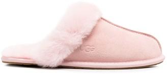UGG Pink Fur Slippers