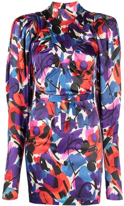Rotate by Birger Christensen Ida abstract-print minidress