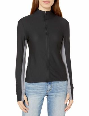 Calvin Klein Women's Premium Performance Long Sleeve Honeycomb Mesh Jacket