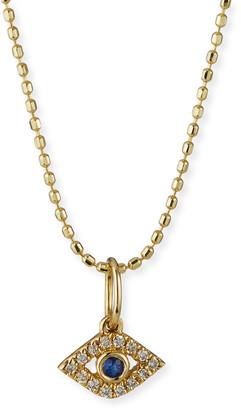 Sydney Evan 14k Gold Tiny Evil Eye Charm Necklace