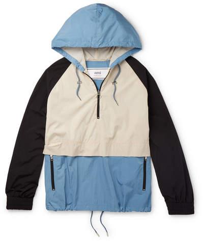 Ami Colour-Block Shell Hooded Jacket