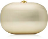 Jeffrey Levinson Satin Champagne Metallic Clutch