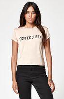 La Hearts Coffee Queen Short Sleeve Skimmer T-Shirt