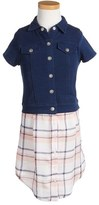 Splendid Girl's Layered Look Shirtdress