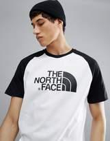 The North Face Raglan Easy Baseball T-Shirt In White/Black