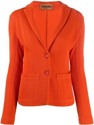 Missoni Jacquard Knit Tailored Blazer