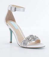 Betsey Johnson Blue by Gina Jeweled Printed Dress Sandals