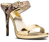 Michael Kors Beverly Smooth And Embossed-Leather Mule